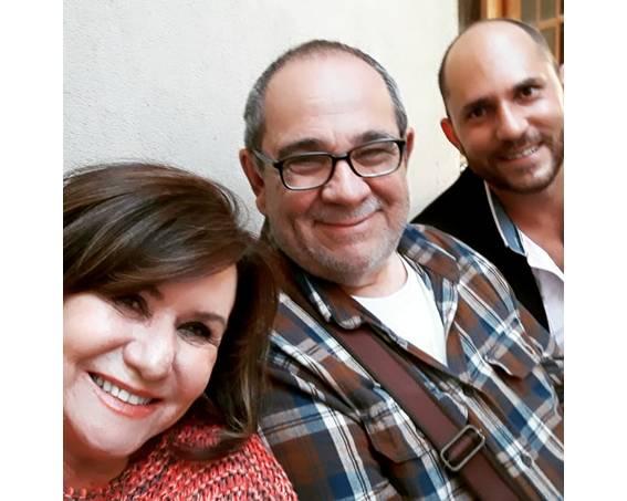 Com Cecília Figueiredo e José Augusto Camargo